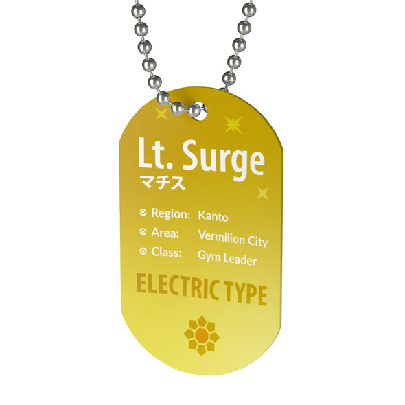 Lt Surge Gym Leader Pokemon Necklace