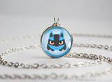 Lucario Pokemon Chibi Portrait necklace