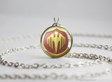 Fire pendant necklace Emblem series Lucina Brooch Emblem