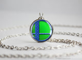 Super Smash Ball Luigi necklace