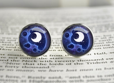 Pony MLP cutiemark cufflinks Princess Luna Moon