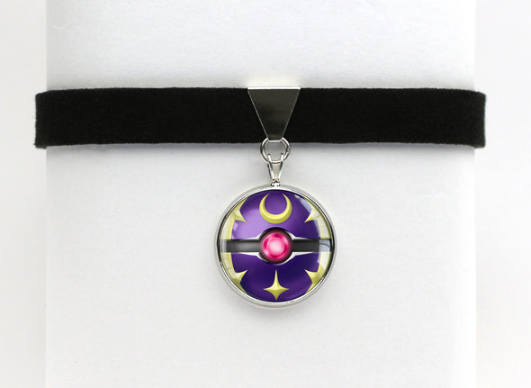 PKMN Lunala Pokeball Choker Necklace