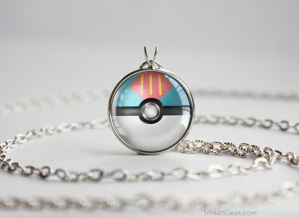 Pokemon Pokeball Lure Ball Necklace Pendant