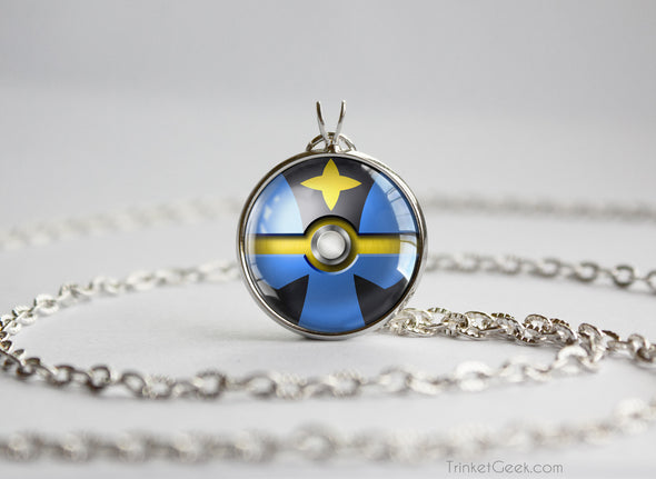 Pokemon Luxray Themed Pokeball Pendant