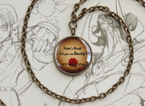 Alistair Maker's breath but you are beautiful necklace