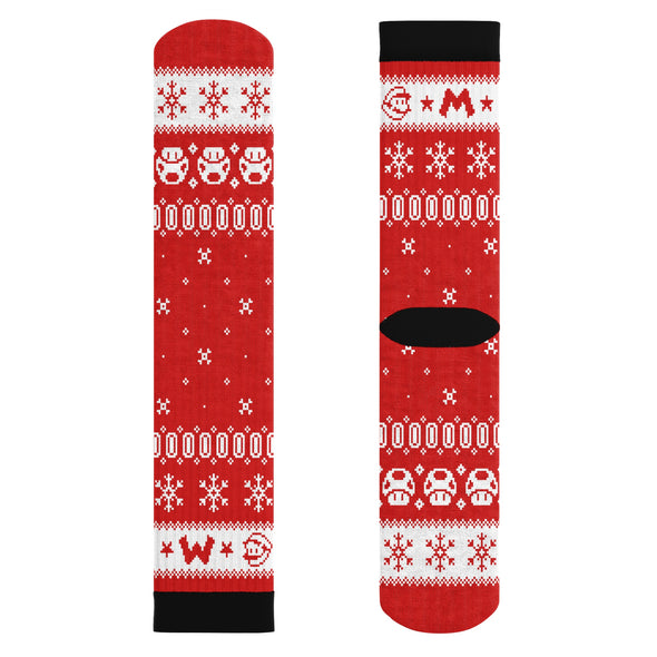 Mario Christmas Socks Cushion Socks