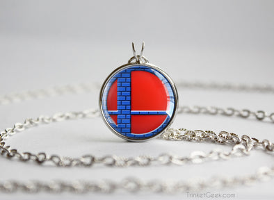 Super Smash Ball Mario necklace