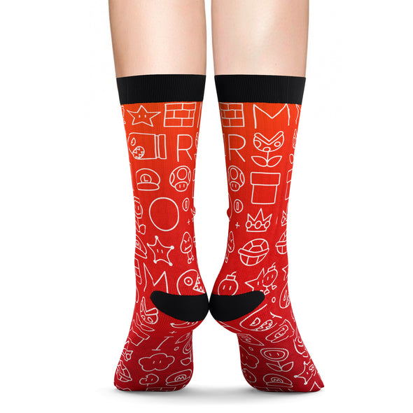 Mario art socks
