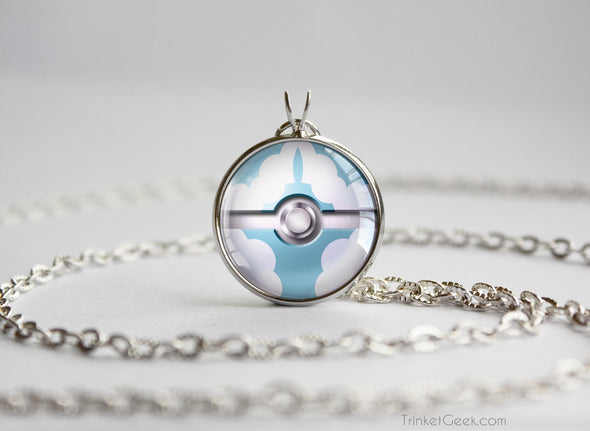 Pokemon Mega Altaria Themed Pokeball Pendant