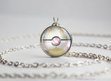 Pokemon Mega Audino Themed Pokeball Pendant