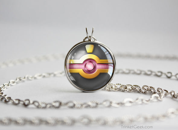 Pokemon Mega Banette Themed Pokeball Pendant