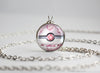 Pokemon Mega Diancie Pokeball Pendant Necklace