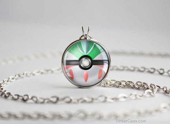 Pokemon Gallade Themed Pokeball Pendant