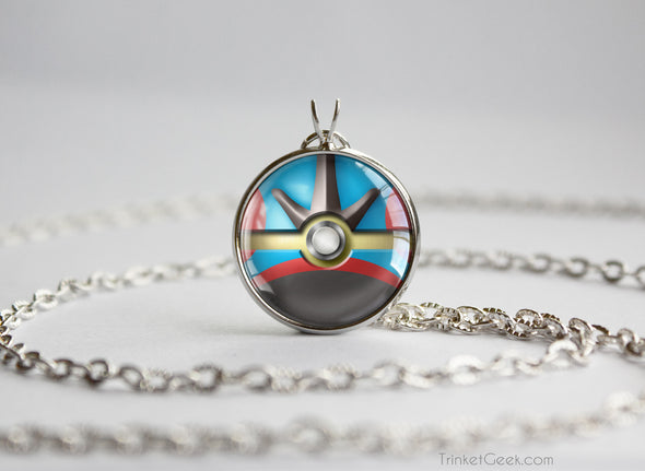 Pokemon Mega Gyarados Themed Pokeball Pendant