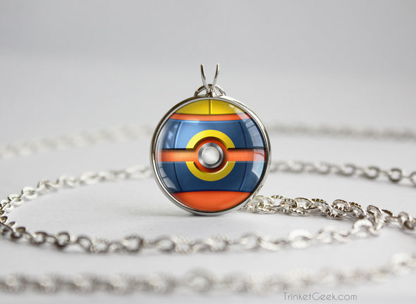 Pokemon Mega Heracross Themed Pokeball Pendant