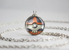 Pokemon Mega Houndoom Themed Pokeball Pendant