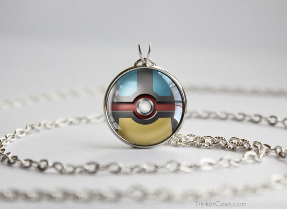 Pokemon Mega Lucario Themed Pokeball Pendant
