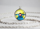 Pokemon Mega Manectric Themed Pokeball Pendant