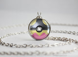 Pokemon Mega Mawile Themed Pokeball Pendant