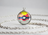 Pokemon Mega Pidgeot Themed Pokeball Pendant