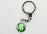 Pokemon Mega Rayquaza Symbol Key Chain