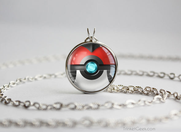 Pokemon Mega Scizor Themed Pokeball Pendant