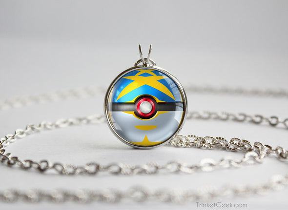 Sharpedo Mega Pokemon Themed Pokeball Pendant