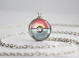 Pokemon Mega Slowbro Themed Pokeball Pendant