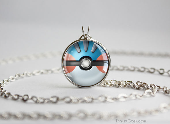 Pokemon Mega Swampert Themed Pokeball Pendant