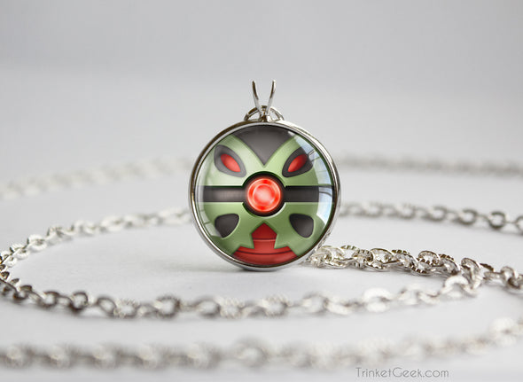 Pokemon Mega Tyranitar Themed Pokeball Pendant