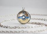 Pokemon Mega Blastoise Themed Pokeball Pendant Necklace