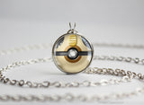 Pokemon Meowth Themed Pokeball Pendant