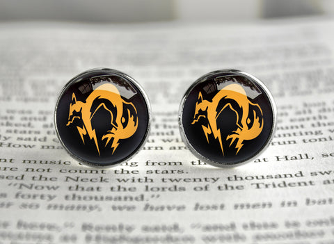 Metal gear cufflinks Solid FOX emblem