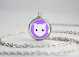 Mewtwo Pokemon Chibi Portrait necklace