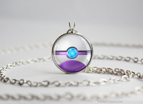 Pokemon Mewtwo Pokeball Pendant Necklace