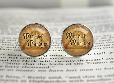 Mischief Managed Harry Cufflinks Potter HP