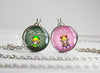 Zelda Friendship Couple Necklace set My Hero My Princess