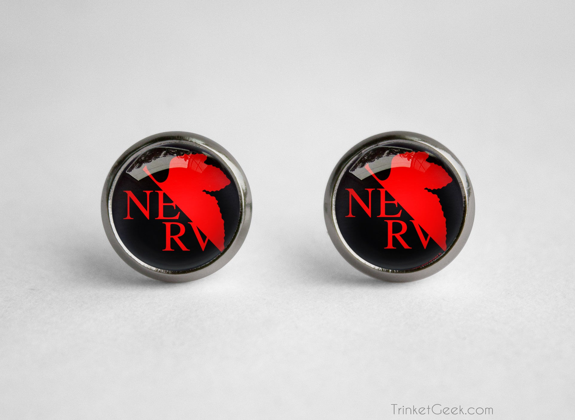 Neon Genesis Evangelion Organization NERV Logo Earrings