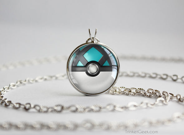 Pokemon Pokeball Net Ball Necklace Pendant