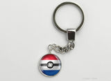 Netherlands Flag themed Pokeball Key Chains