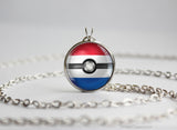 Netherlands Pokemon Flag pokeball necklace