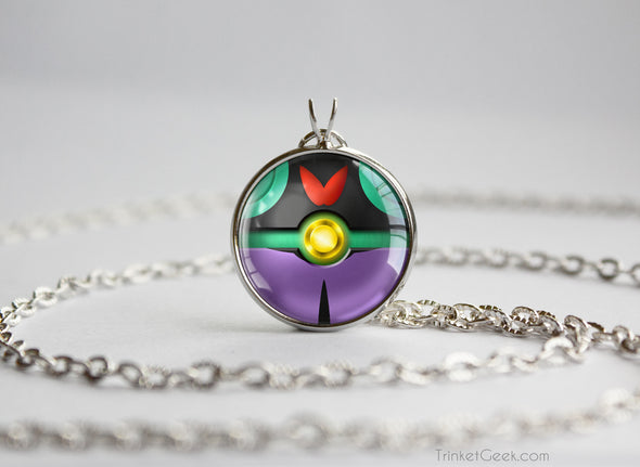 Pokemon Noivern Themed Pokeball Pendant