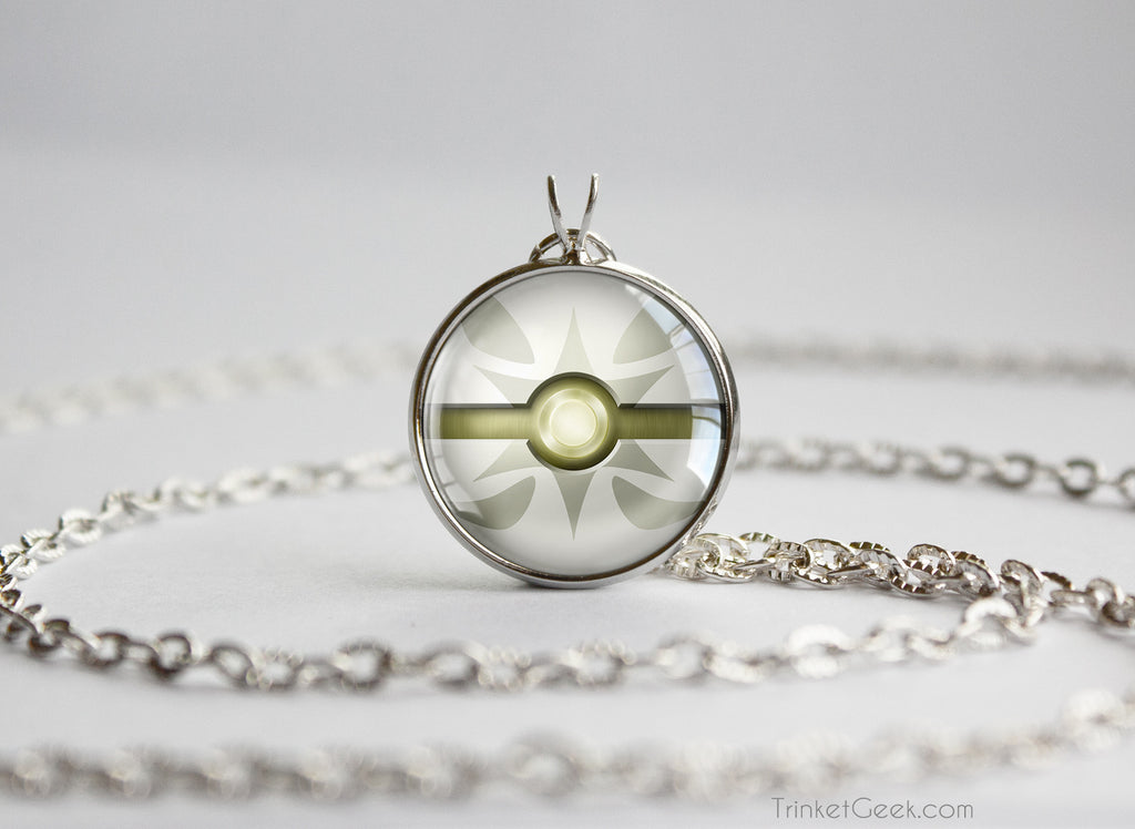 Normal Type Pokemon Necklace Themed Pokeball pendant