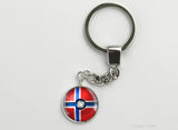 Norwegian Flag themed Pokeball Key Chains