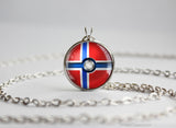 Norway Pokemon Flag pokeball necklace