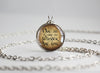 "Tolkien LOTR pendant ""Not all those who wander are lost"" quotation Silver"