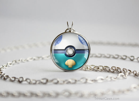 Oshawott Pokemon Unova Starter Themed Pokeball pendant
