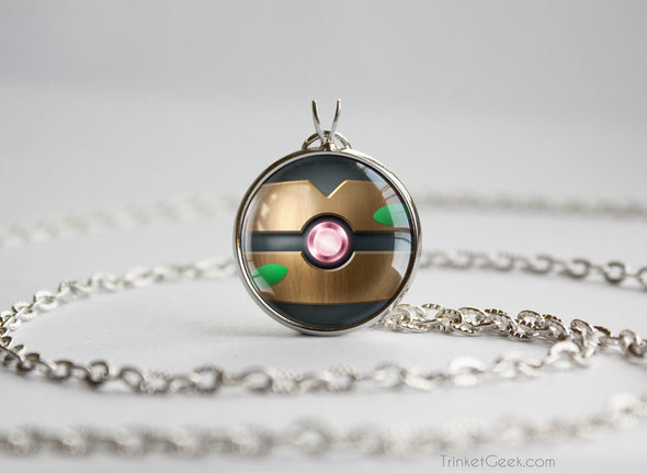 Pokemon Phantump Themed Pokeball Pendant