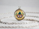 Phantump Pokemon Chibi Portrait necklace