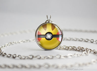 Pokemon Pikachu Pokeball necklace